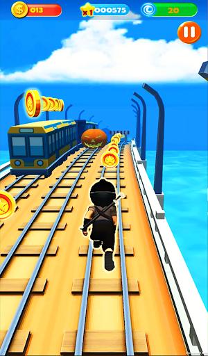 Ninja Subway Surf: Rush Run In City Rail screenshot 4