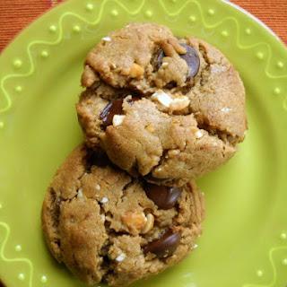 Flourless Honey-Roasted Peanut Butter Chocolate Chip Cookies.