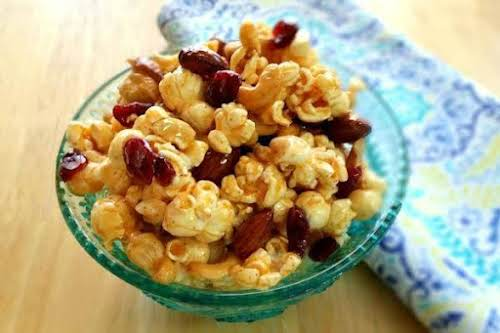 "Spiced Maple Popcorn With Almonds and Cashews ""You love popcorn, maple, almonds,..."