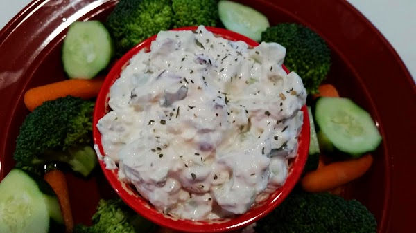 Chill until ready to serve. Serve with assorted vegetables.  Recipe could easily be doubled for...
