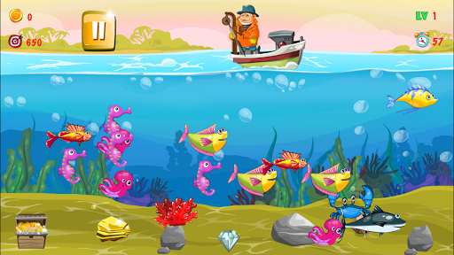 Gold miner, Fishing, gold rush apkmr screenshots 8