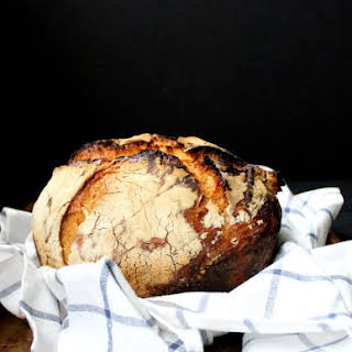 No Knead Sourdough Bread.