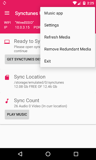 Sync iTunes to android Free screenshots 2