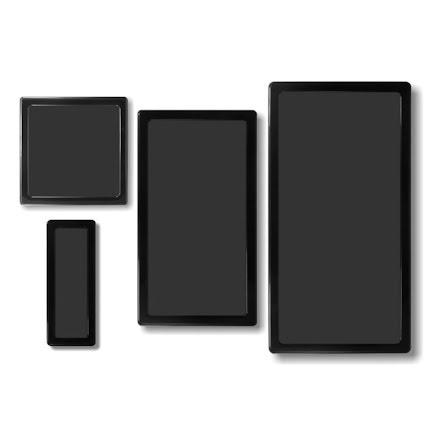 DEMCiflex magnetisk filtersett for Corsair 200R, sort