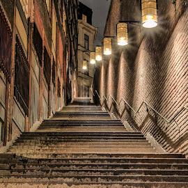 by Urszula Mazur - City,  Street & Park  Night
