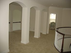 Photo: (Before) Young's Upper hallway square columns with arches Warminster,  PA