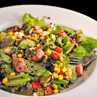 Southwestern Saladwith Grilled Sausages