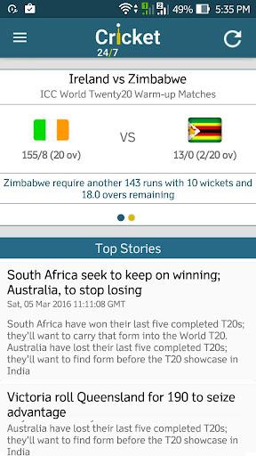 Live Cricket 24/7 4.1 screenshots 3