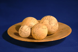 "Photo: Photo from Gallery Magazine -- Clif Poodry -- Maple Plate with Spheres -- 3.5"" X 10"" -- $150"