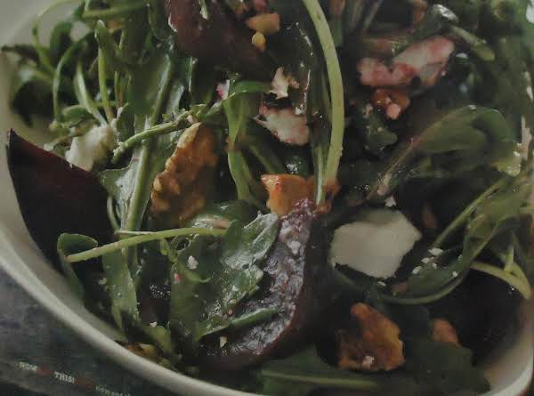 My Red Beet, Feta Cheese, & Walnut Salad