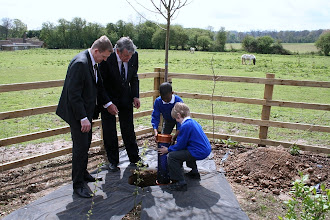 Photo: School children with their Time Capsule - Brickfield Close Opening 1st May 2012