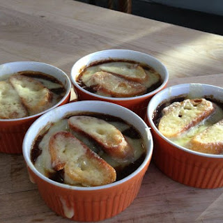 French Onion Soup with Coffee.
