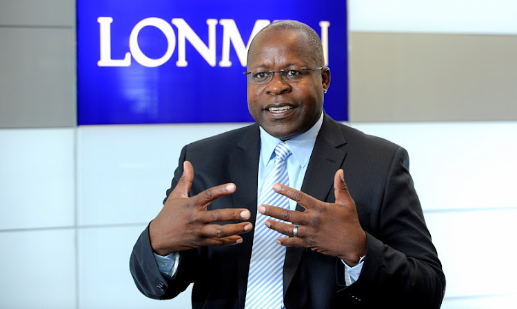 Lonmin CEO Ben Magara. Picture: RUSSELL ROBERTS