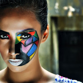 abstract by Allan Manalac - People Portraits of Women