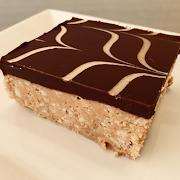 Chocolate Peanut Butter Crispy Square