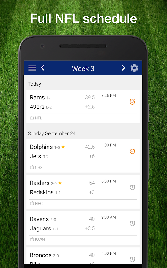 Football NFL 2017 Schedule Live Scores  Stats  Android Apps on Google Play