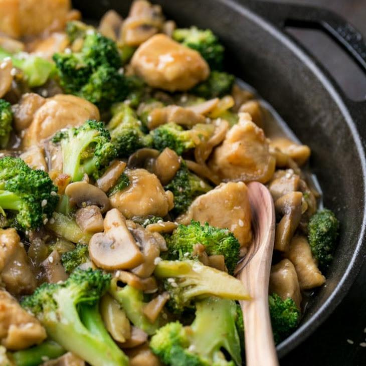 Chicken Broccoli and Mushroom Stir Fry Recipe