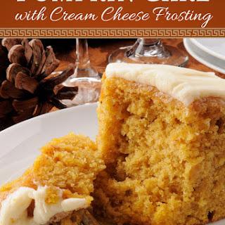 Pumpkin Cake with Cream Cheese Frosting (Gluten-Free & Sugar-Free).