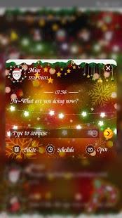 GO SMS COLORFUL CHRISTMAS THEME - náhled