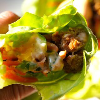 Turkey 'Banh Mi' Lettuce Wraps.