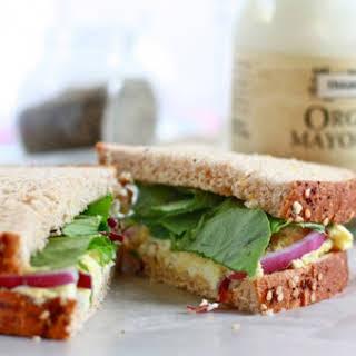 Simple Egg Salad Sandwiches.