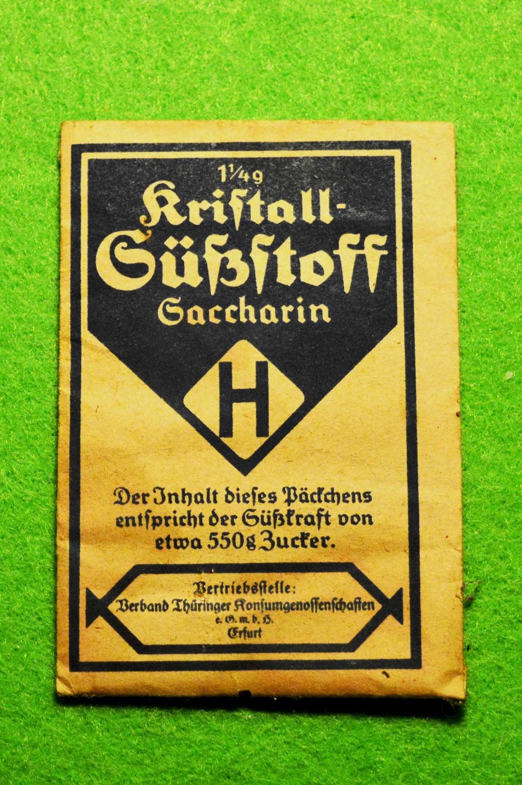 Kristall-Süßstoff Saccharin H-Packung - 1930