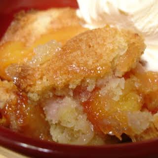 Low Calorie Peach Cobbler.