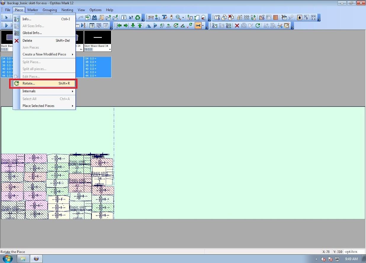 Hướng Dẫn Cách Cắt Sơ Đồ In Quá Khổ Giấy Trên Optitex Marker 9