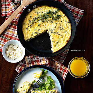 Healthy Zucchini and Corn Baked Frittata.