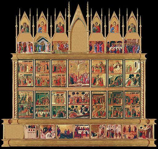 The back of the Duccio Maesta Altarpiece