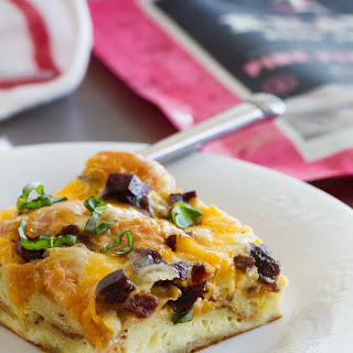 Croissant Breakfast Casserole with Jerky and Cheddar Recipe