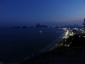 Photo: View from Wat Thammikaram over Prachuap Khiri Khan, Thailand.