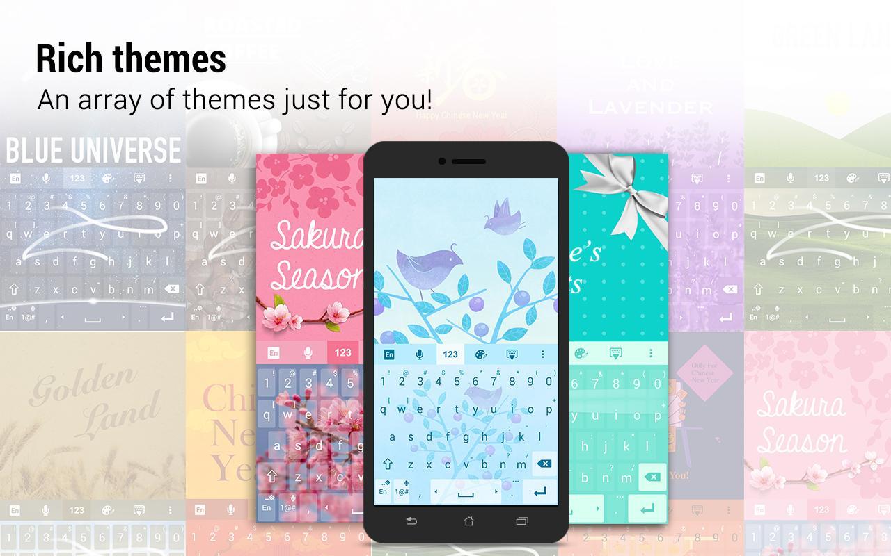 Screenshots of ZenUI Keyboard – Emoji, Theme for Android