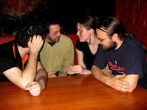 Photo: Część nieoficjalna konferencji, czyli dyskusje w pubie. Wbrew pozorom również na tematy poruszane w referatach.