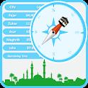Qibla Direction & Prayers Time icon