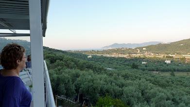 Photo: Enjoying the view from taverna Agnadio