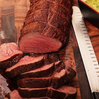 Ancho-Rubbed Bison Tenderloin With Spicy Cilantro Sauce