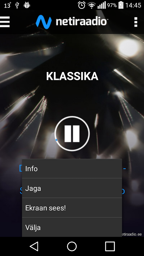 Estonia official music station- screenshot