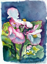 Photo: Renate's Begonia.  watercolor.  4x6