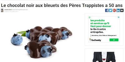 Le chocolat noir aux bleuets des Pères Trappistes a 50 ans