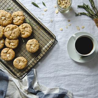 Rosemary, Almond, & White Chocolate Cookies.