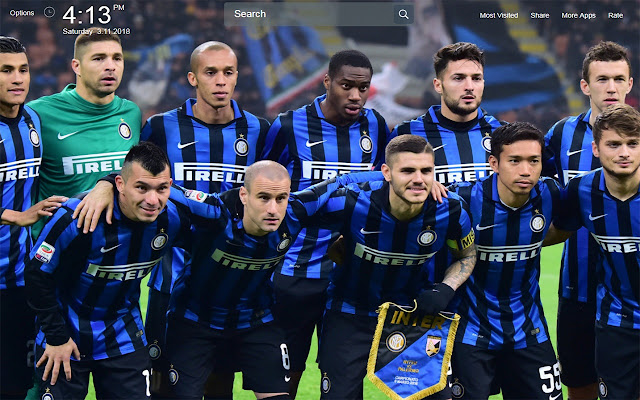 F.C Inter Wallpapers Theme New Tab