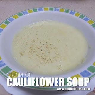 Cream of Cauliflower Soup.