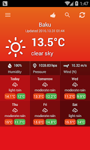 Weather Azerbaijan screenshot 0