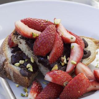 Strawberry and Chocolate Bruschetta