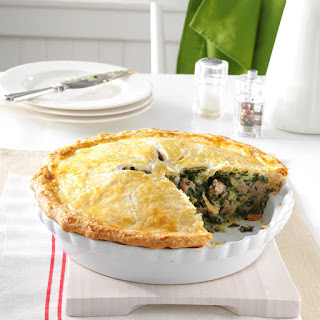 Italian Sausage and Spinach Pie.