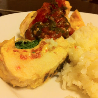 Spinach and Tomato Stuffed Chicken Roulade from Shape Magazine