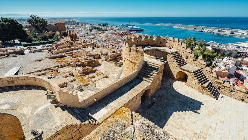 Vista aérea de la Alcazaba de Almería