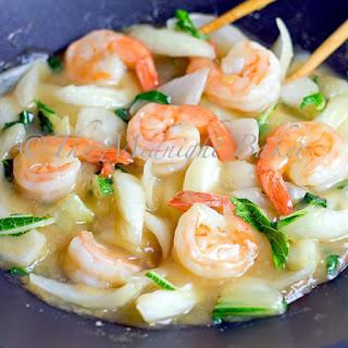 Shrimp with Bok Choi