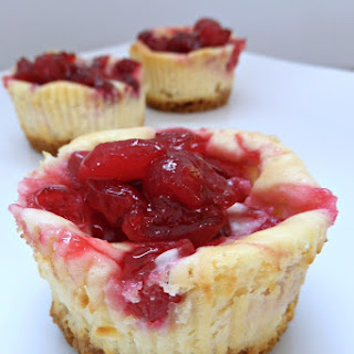 Cranberry Swirl Mini Cheesecakes